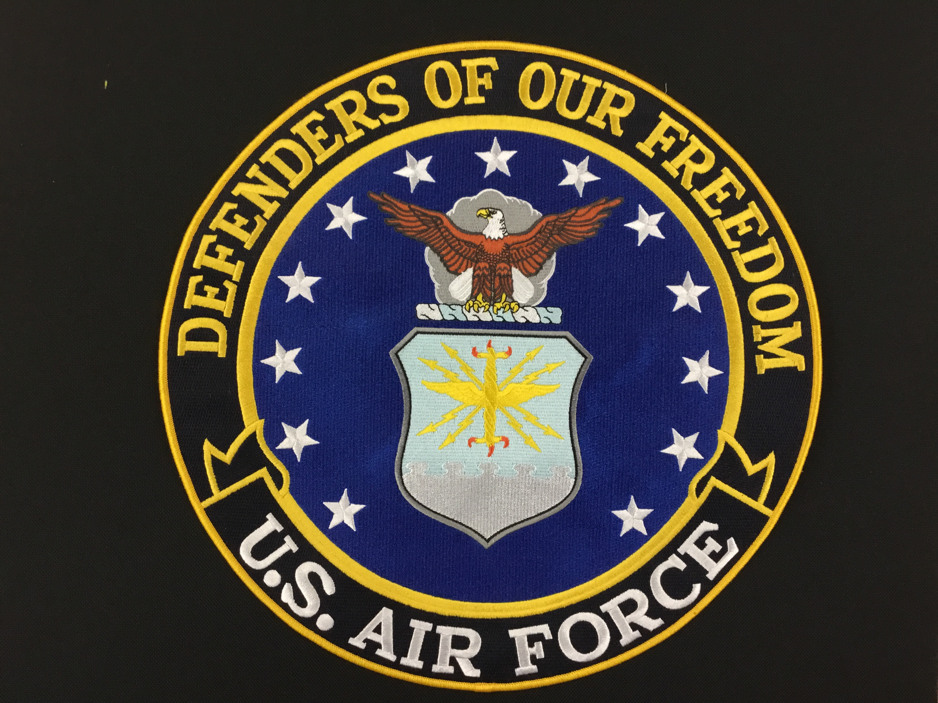 LG MILITARY PATCH AIR FORCE DEFENDERS